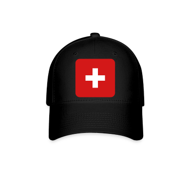 MEDIC white cross on a red button square rectangle Caps