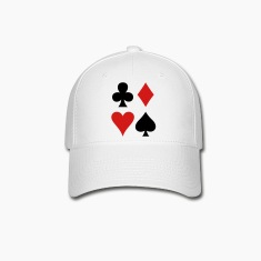 all four suits club diamond heart and spade poker design Caps