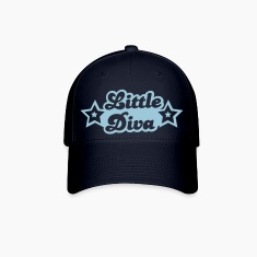 little diva with cute little stars Caps
