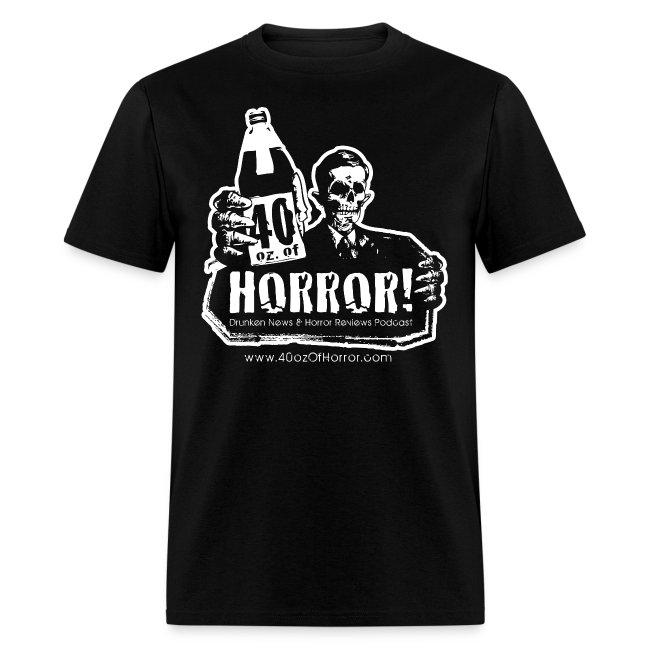 T-Shirt - 40oz Of Horror Logo