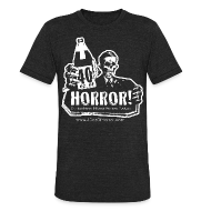 T-Shirts ~ Unisex Tri-Blend T-Shirt ~ Vintage T-Shirt - 40oz Of Horror Logo