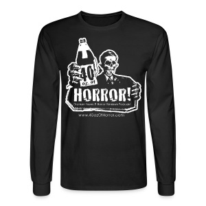 Long Sleeve Shirt - 40oz Of Horror Podcast Logo  - Men's Long Sleeve T-Shirt
