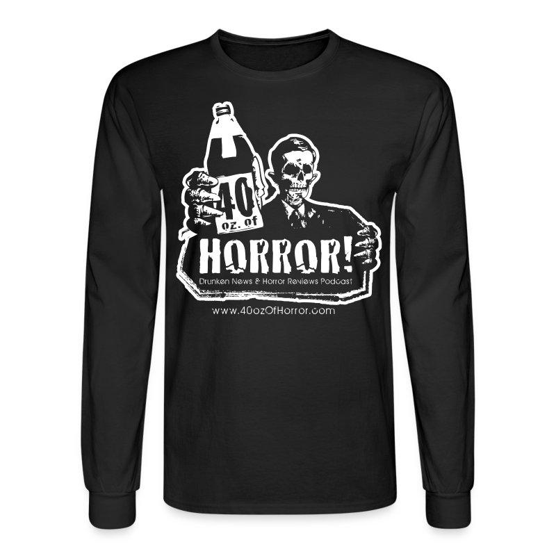 Long Sleeve Shirt - 40oz Of Horror Podcast Logo  - Men's Long Sleeve T-Shirt