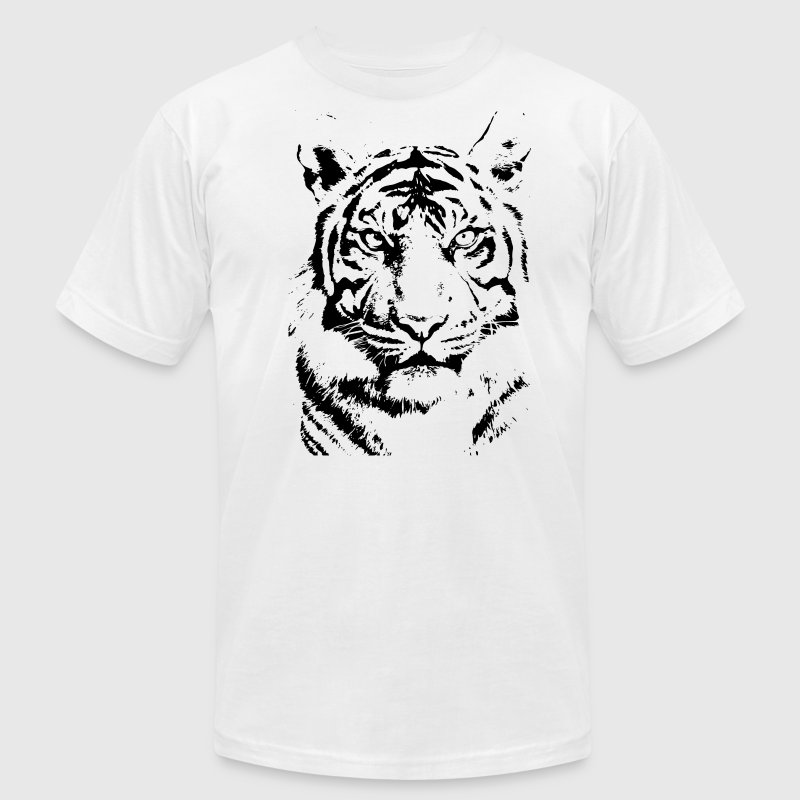 tiger T-Shirts - Men's T-Shirt by American Apparel