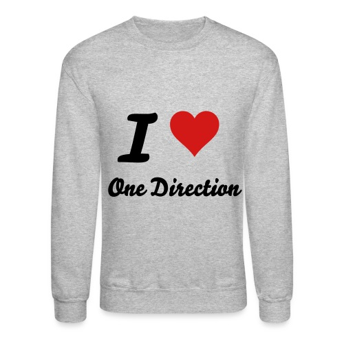 I Love One Direction Sweater - Crewneck Sweatshirt