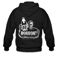 Zip Hoodies & Jackets ~ Men's Zip Hoodie ~ Zipper Hoodie - 40oz Of Horror Podcast Logo