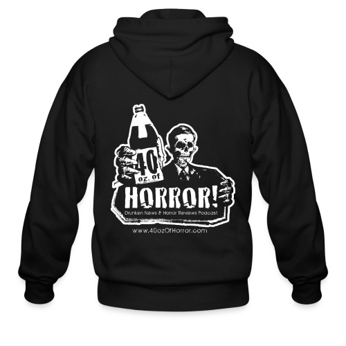 Zipper Hoodie - 40oz Of Horror Podcast Logo - Men's Zip Hoodie