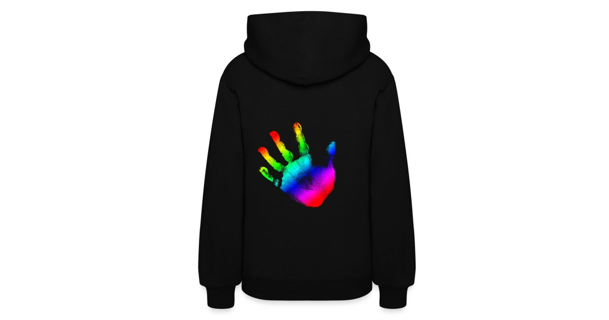 a81a4a4c4 Buy Custom Graphic Design Clothing Online |Men|Women|Teen|Children|Babies | Rainbow  Handprint Graphic Design for Women and Teen Girls Hooded Sweatshirt ...