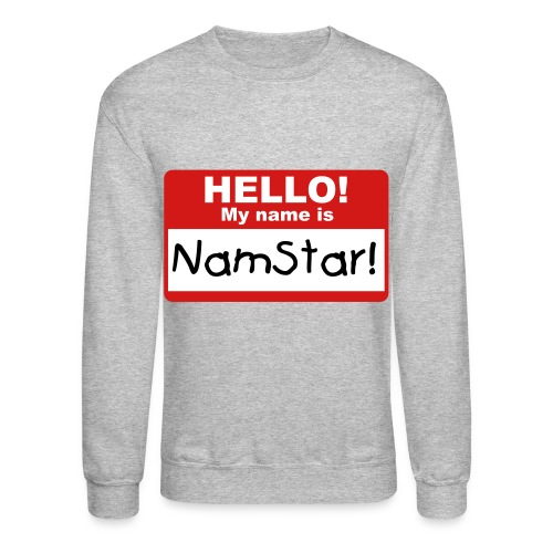 Woohyun Hello My Name Is NamStar Crewneck - Crewneck Sweatshirt