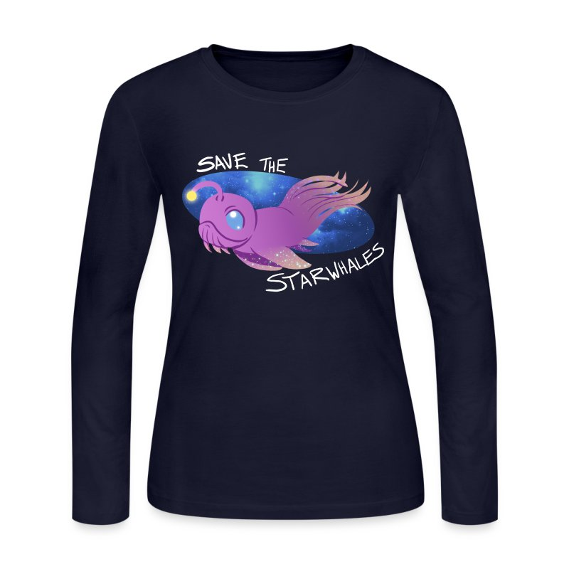 Save the Starwhales - Women's Long Sleeve - Women's Long Sleeve Jersey T-Shirt