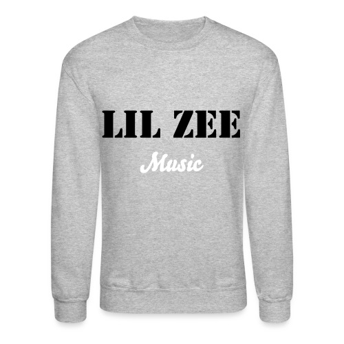 Lil Zee Music Crewneck (Grey & Black) - Crewneck Sweatshirt