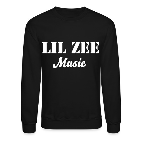 Lil Zee Crew Neck Black (White) - Crewneck Sweatshirt