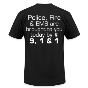 Brought to you by 911 - Men's T-Shirt by American Apparel