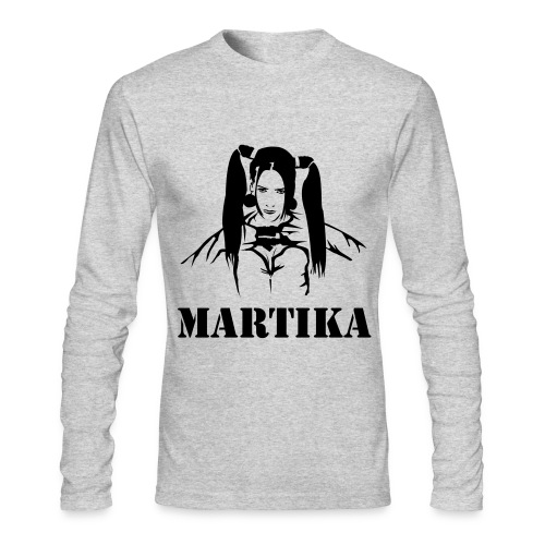 Men's Long Sleeve T-Shirt by Next Level - Super Hero MARTIKA