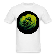 T-Shirts ~ Men's T-Shirt ~ Mens Green Rose Circle Street Style Fashion T-Shirt