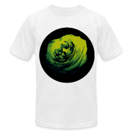 T-Shirts ~ Men's T-Shirt by American Apparel ~ Mens Green Rose Circle Street Style Fashion T-Shirt