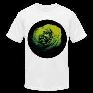 T-Shirts ~ Men's T-Shirt by American Apparel ~ Mens Green Rose Circle Street Style Fashion T-Shirt