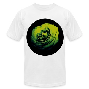 Mens Green Rose Circle Street Style Fashion T-Shirt - Men's T-Shirt by American Apparel
