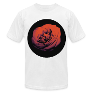 T-Shirts ~ Men's T-Shirt by American Apparel ~ Mens Red Rose Circle Street Style Fashion T-Shirt