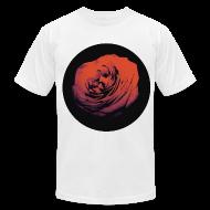 T-Shirts ~ Men's T-Shirt by American Apparel ~ Mens Red Rose Circle Street Style Fashion T-Shirt