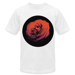 Mens Red Rose Circle Street Style Fashion T-Shirt - Men's T-Shirt by American Apparel