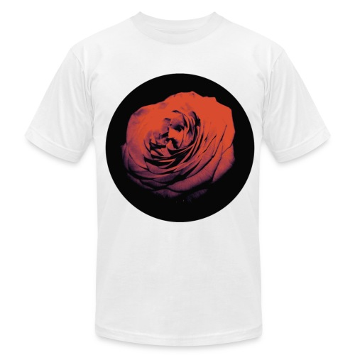 Mens Red Rose Circle Street Style Fashion T-Shirt - Men's Fine Jersey T-Shirt