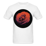 T-Shirts ~ Men's T-Shirt ~ Mens Red Rose Circle Street Style Fashion T-Shirt