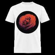 T-Shirts ~ Men's T-Shirt ~ Mens Red Rose Circle Street Style Fashion T-Shirt