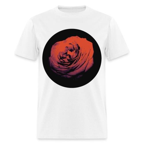 Mens Red Rose Circle Street Style Fashion T-Shirt - Men's T-Shirt