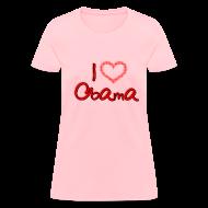 T-Shirts ~ Women's T-Shirt ~ I Heart OBAMA