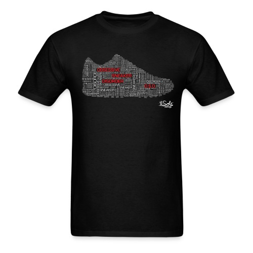 1 Sole Designs OSD Words Black Tee (White & Red Letters) - Men's T-Shirt
