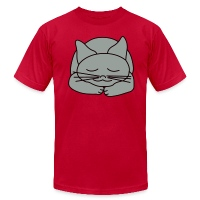 Sleeping Cat - Men's T-Shirt by American Apparel