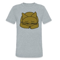 Sleeping Cat - Unisex Tri-Blend T-Shirt by American Apparel