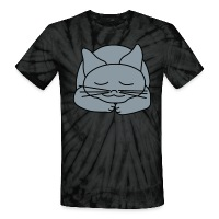 Sleeping Cat - Unisex Tie Dye T-Shirt