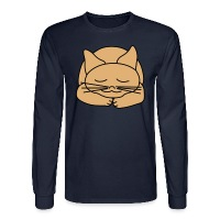 Sleeping Cat - Men's Long Sleeve T-Shirt