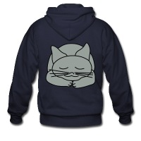 Sleeping Cat - Men's Zip Hoodie
