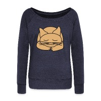 Sleeping Cat - Women's Wideneck Sweatshirt