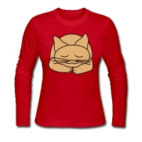 Sleeping Cat - Women's Long Sleeve Jersey T-Shirt