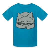 Sleeping Cat - Kids' T-Shirt