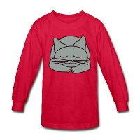 Sleeping Cat - Kids' Long Sleeve T-Shirt
