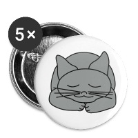 Sleeping Cat - Large Buttons