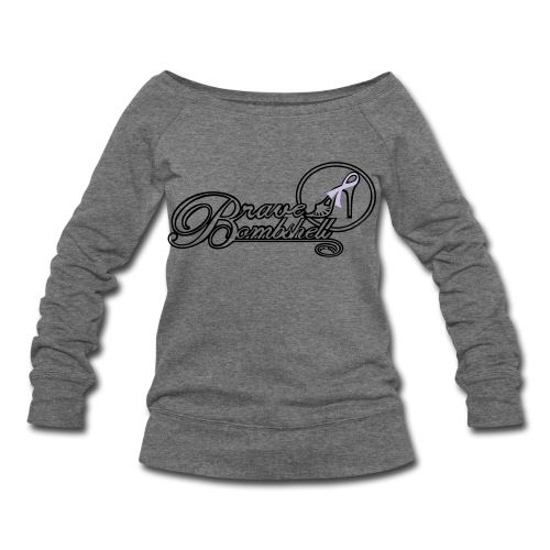 Brave Bombshell for Cancer Awareness Month - Women's Wideneck Sweatshirt