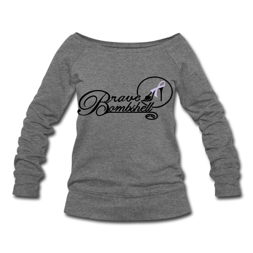 Brave Bombshell for Cancer Awareness - Women's Wideneck Sweatshirt