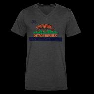 T-Shirts ~ Men's V-Neck T-Shirt by Canvas ~ Detroit Republic
