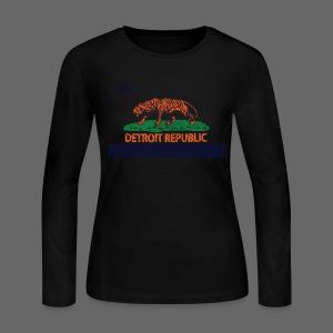 Detroit Republic - Women's Long Sleeve Jersey T-Shirt