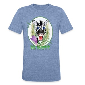 Be Happy Oval - Unisex Tri-Blend T-Shirt by American Apparel