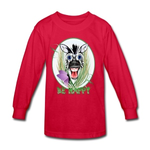 Be Happy Oval - Kids' Long Sleeve T-Shirt