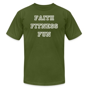 Men's Faith Fitness Fun Shirt - Men's T-Shirt by American Apparel