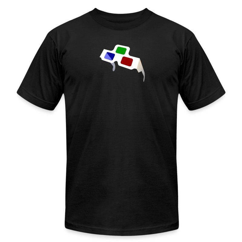 4D Glasses Mini-Logo - Men's Fine Jersey T-Shirt