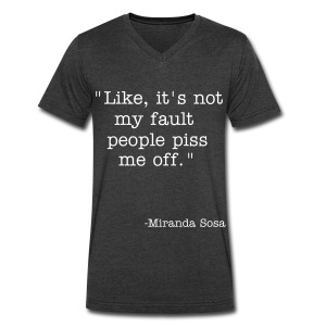 tumblr(mirandasosa2014) quote - Men's V-Neck T-Shirt by Canvas